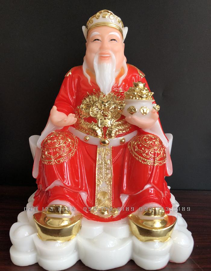tượng ông địa thần tài bằng đá đỏ đẹp nhất