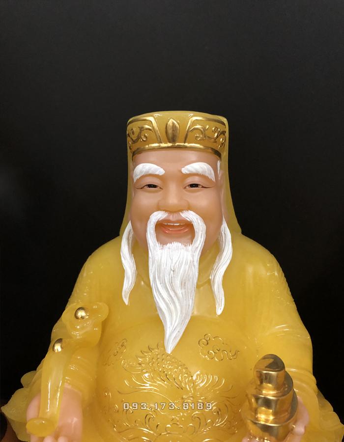 bộ tượng ông địa thần tài bằng đá thạch anh cao cấp