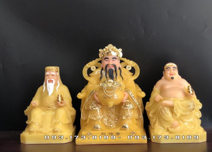 bộ 3 ông bàn thờ thần tài bằng đá thạch anh cao cấp