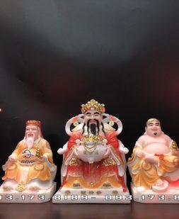 bộ 3 ông bàn thờ thần tài vẽ gấm vàng đẹp